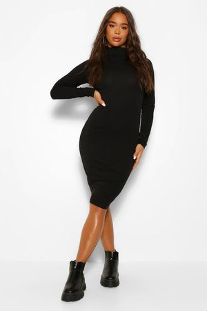Boohoo Womens Long Sleeve Roll Neck Midi Dress - - 4