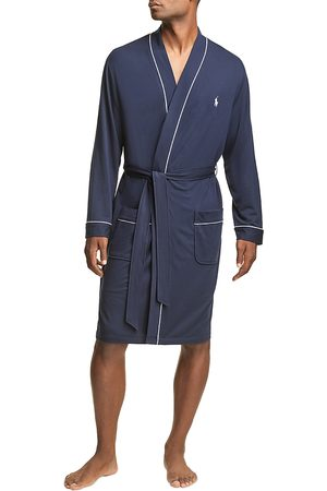 Polo Ralph Lauren Men Bathrobes - Polo Basics Piped Terry Robe
