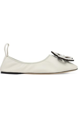 Loewe 10mm Flower Leather Ballerinas