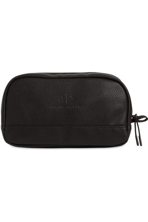 Armani Embossed Effect Toiletry Bag