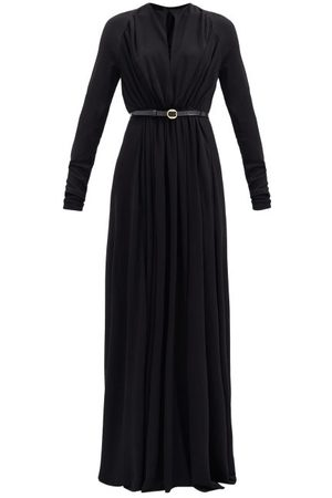 PETAR PETROV Arcilla Belted Crepe Maxi Dress - Womens
