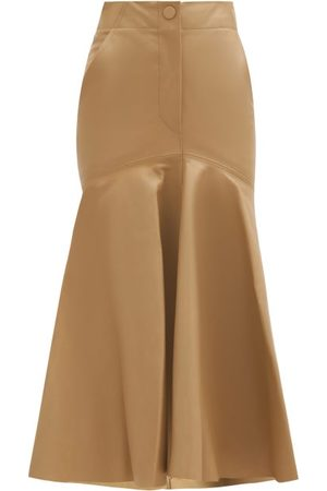 PETAR PETROV Ryo Peplum-hem Leather Skirt - Womens
