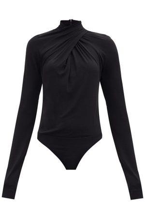 PETAR PETROV Tiwa Draped Jersey Bodysuit - Womens
