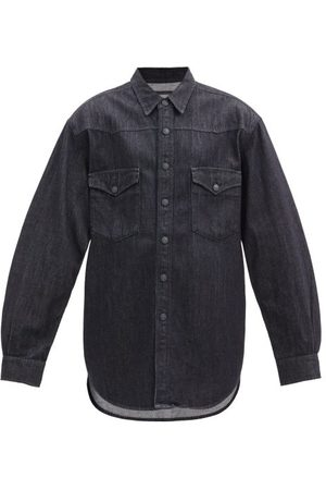 Made In Tomboy Padded-shoulder Denim Shirt - Womens