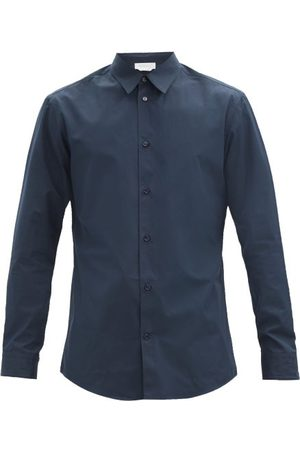GABRIELA HEARST Quevedo Cotton-poplin Shirt - Mens - Navy
