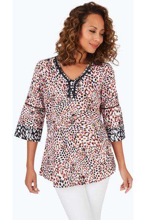 Foxcroft Collection Women Tunics - Heather Non-Iron Spirited Dot Tunic