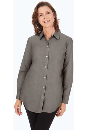 Foxcroft Point Collar Pinpoint Non-Iron Tunic