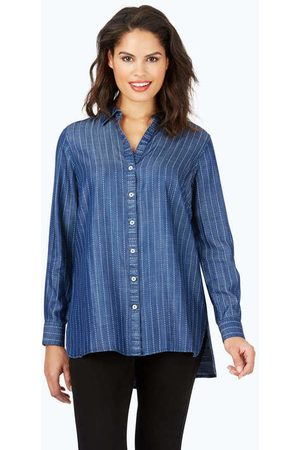 Foxcroft Brycen Stitch Stripe Tencel® Tunic