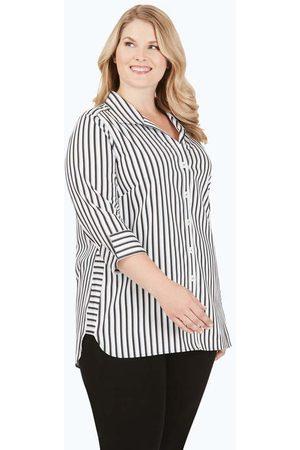 Foxcroft Women Tunics - Pandora Plus Stretch Non-Iron Essential Stripe Tunic