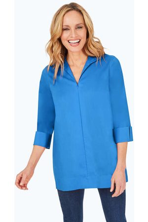 Foxcroft Lydia Stretch Non-Iron Zip-Up Tunic