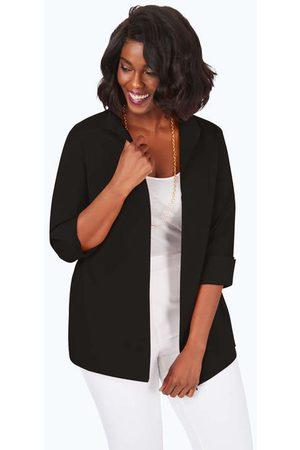 Foxcroft Lydia Plus Essential Stretch Non-Iron Zip-Up Tunic