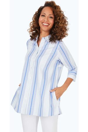 Foxcroft Lila Stretch Non-Iron Variegated Stripe Tunic