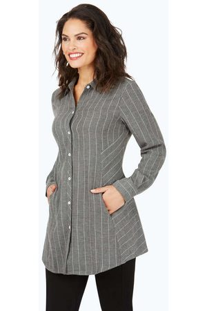 Foxcroft Women Tunics - Cici Brushed Herringbone Stripe Tunic