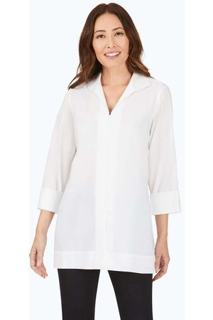 Foxcroft Women Tunics - Lydia Essential Stretch Non-Iron Zip-Up Tunic
