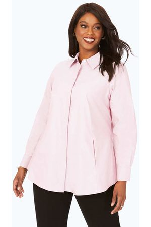 Foxcroft Women Tunics - Cici Plus Pinpoint Non-Iron Tunic