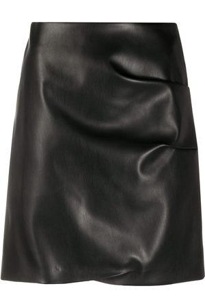 Patou Faux-leather mini skirt