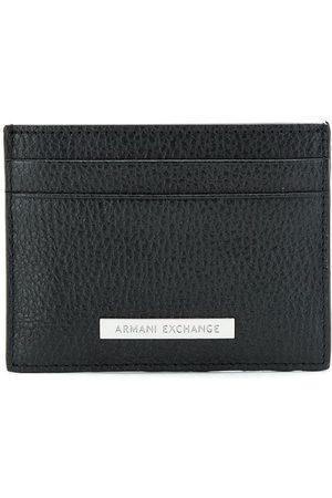 Armani Logo-patch leather cardholder