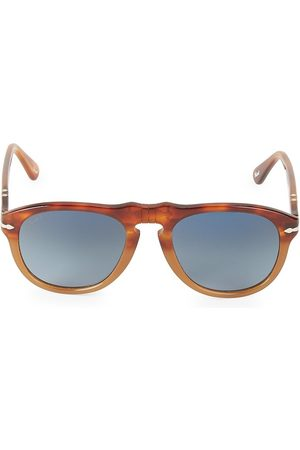 Persol Men's 52MM Browline Rounded Square Sunglasses