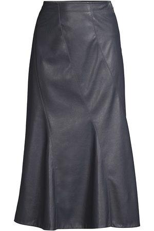 REBECCA TAYLOR Women's Vegan Leather Midi Skirt - - Size 14