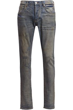 Purple Brand Men's P001 Oil Repair Finish Skinny Jeans - - Size 36