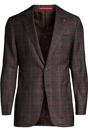 ISAIA Men's Classic-Fit Delain Selection Plaid Wool Sportcoat - - Size 54 (44) R