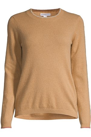 MINNIE ROSE Women's Whipstitch Cashmere Knit Sweater - - Size Large