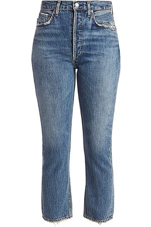 AGOLDE Women's Ripley Mid-Rise Straight-Leg Ankle Jeans - - Size 30 (8)