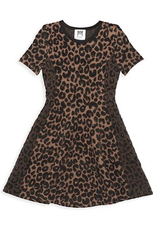 Milly Girl's Leopard-Print Flared Dress