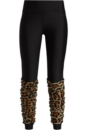 Terez Women's Leopard Leg Warmer Leggings - - Size Medium