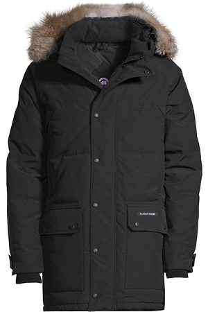 Canada Goose Men's Emory Coyote Fur-Trimmed Down Parka - - Size XS