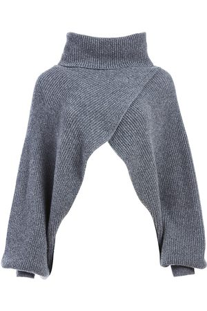 ALICE+OLIVIA Women's Noriko Turtleneck Asymmetrical Shrug - - Size XL