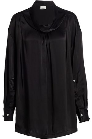 3.1 Phillip Lim Women's Satin Oversized Drape Collar Shirt - - Size Small