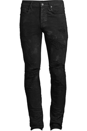 Purple Brand Men's Stretch Destroyed Slim-Fit Jeans - - Size 38