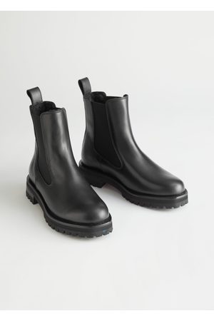 & OTHER STORIES Shearling Lined Leather Chelsea Boots