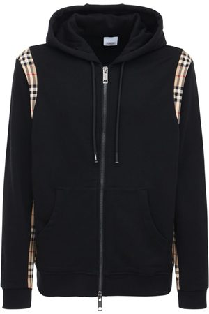 Burberry Check Cotton Zip-up Sweatshirt