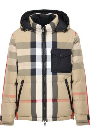 Burberry Men Jackets - Rutland Check Print Tech Down Jacket