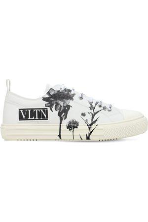 VALENTINO GARAVANI Logo Flower Print Low Sneakers