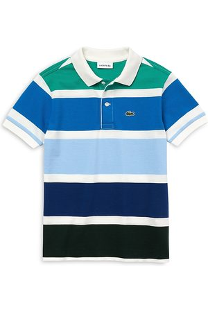 Lacoste Boys' Pique Big Striped Polo Shirt - Little Kid, Big Kid
