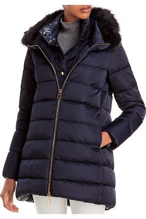 HERNO Women Puffer Jackets - Faux Fur Trimmed Down Puffer Coat