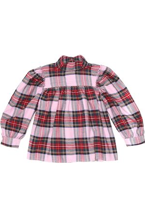 MORLEY Martha checked cotton top