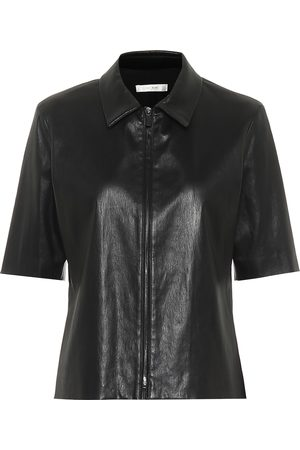 The Row Chloé zip-through leather shirt