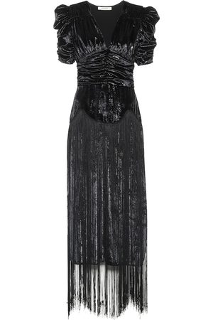 RODARTE Fringed lamé midi dress