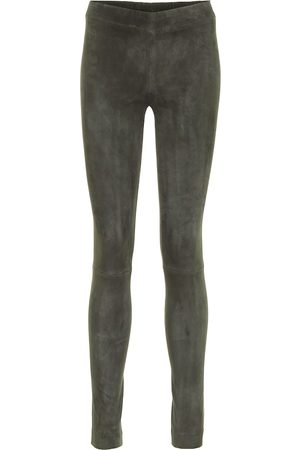 The Row Moto suede leggings