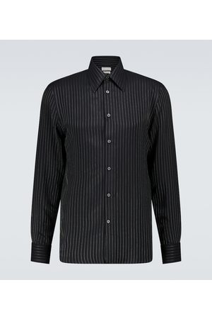Alexander McQueen Pinstriped long-sleeved shirt