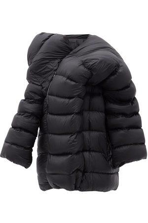 Moncler + Rick Owens Women Puffer Jackets - Hikoville Asymmetric Quilted Down Coat - Womens