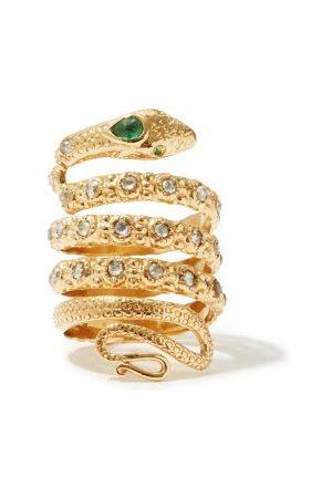 JADE JAGGER Women Rings - Diamond, Emerald & 18kt Snake Ring - Womens
