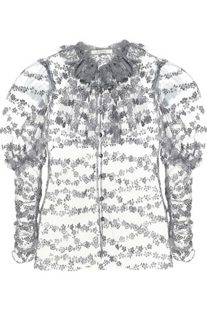 RODARTE Embroidered tulle blouse