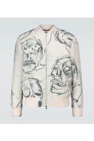 Alexander McQueen Skull printed bomber jacket
