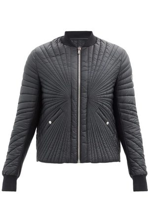 MONCLER + RICK OWENS Splayed-quilting Down Bomber Jacket - Mens
