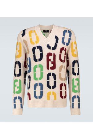 Fendi Intarsia knitted wool sweater